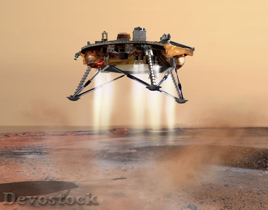 Devostock Spacecraft Landing Mars Probe HD