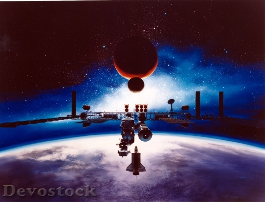 Devostock Spacecraft Space Station Freedom HD