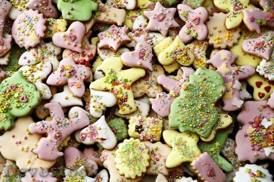 Devostock Christmas Biscuits Colorful 100146 4K