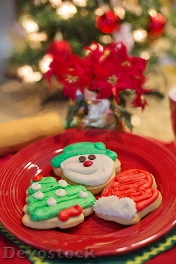 Devostock Christmas Cookies CutOuts 4K