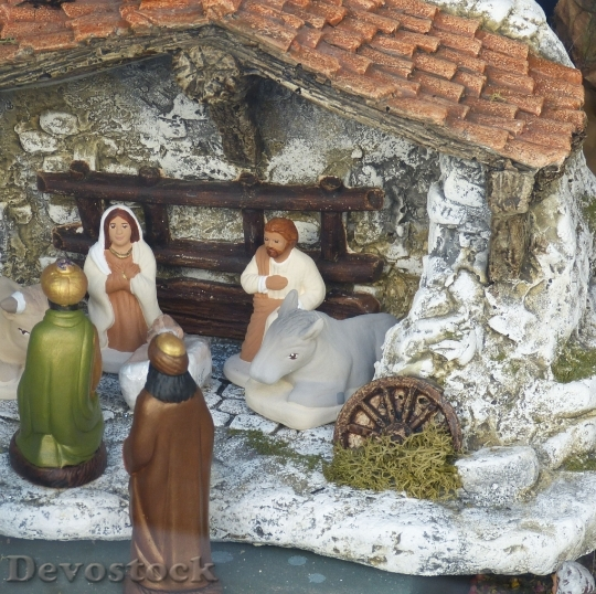 Devostock Crib Christmas Nativity Scne 0 4K