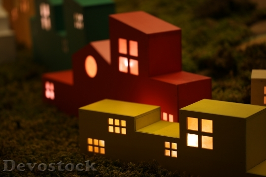 Devostock MODEL Warm LIGHT-UP HOUSE Concept