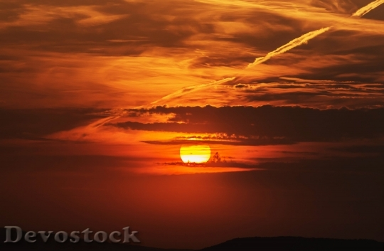 Devostock Sunset Clouds Colors Sky 4K