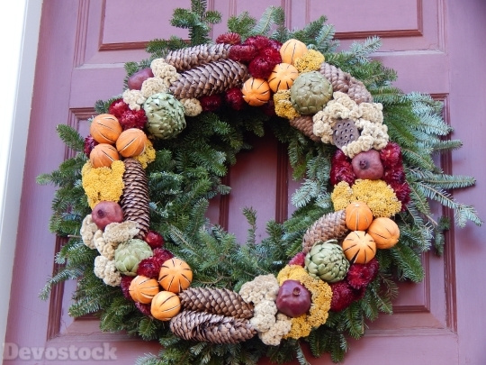 Devostock Wreath Holiday Decorations 57464 4K