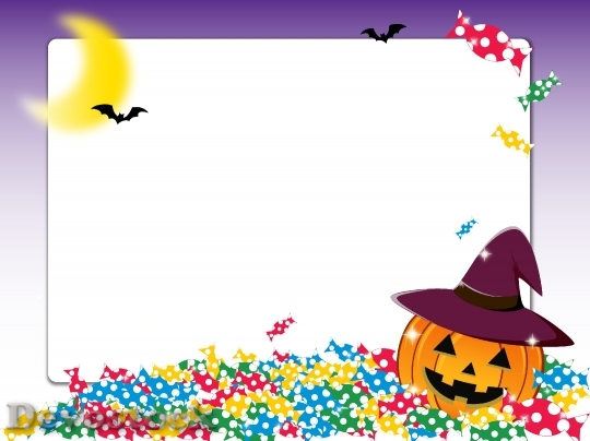 Devostock Candy Halloween Frame
