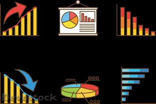 Devostock Chart Bar Graph Set