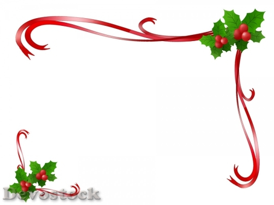 Devostock FRAME HOLLY RED RIBBON