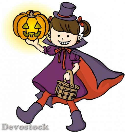 Devostock Halloween Girl Witch