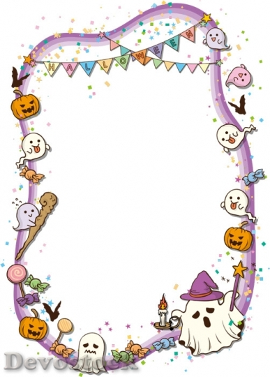 Devostock Halloween Vertical Frame