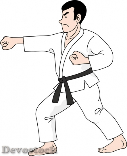 Devostock Man Karate