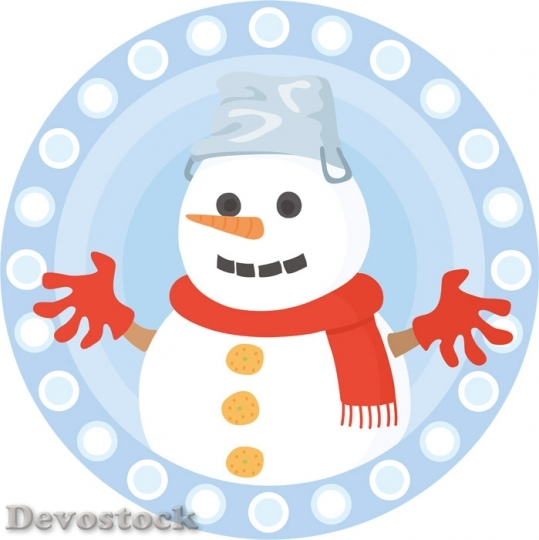 Devostock Snowman Decoration Logo