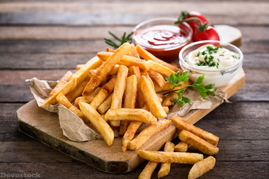 Devostock Food Unhealthy Oily French Fries Fastfood 4k