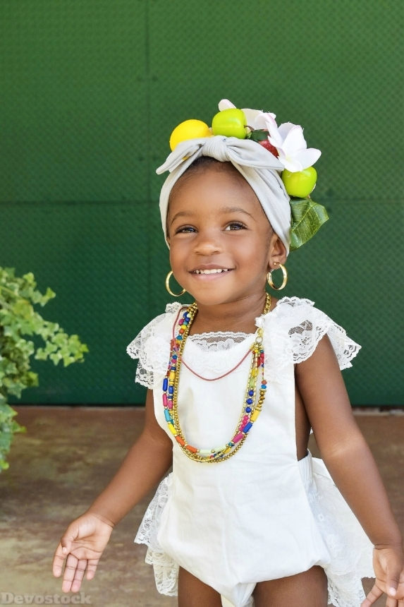Devostock Little Girl Adorable Beautiful Beauty African 4K