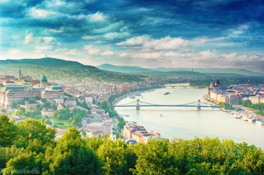 Devostock Nature Rivers Bridges Hungary Budapest Dunai City 4k