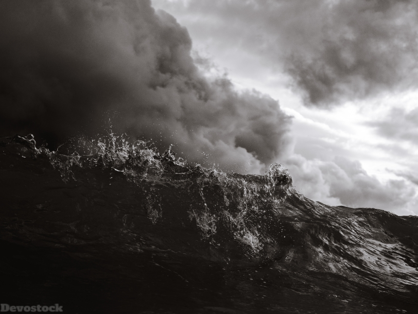 Devostock Nature Wallpaper Black And White Clouds Storm