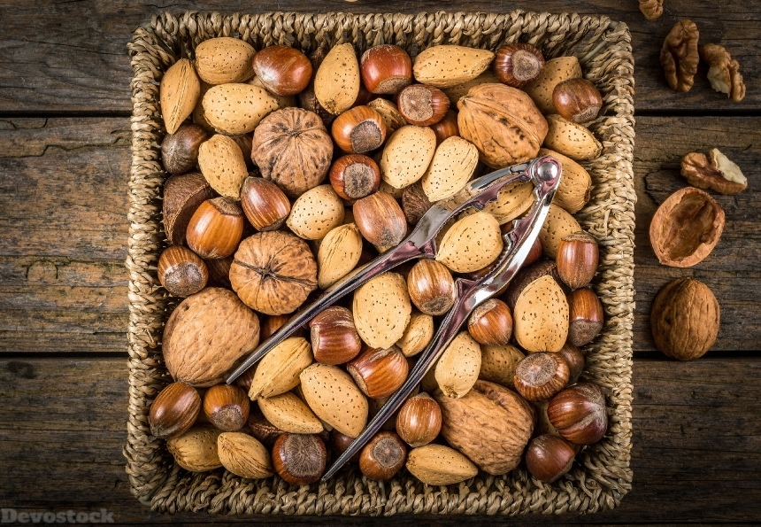 Devostock Nutcracker Nuts Almonds Hazelnuts Walnuts 4k