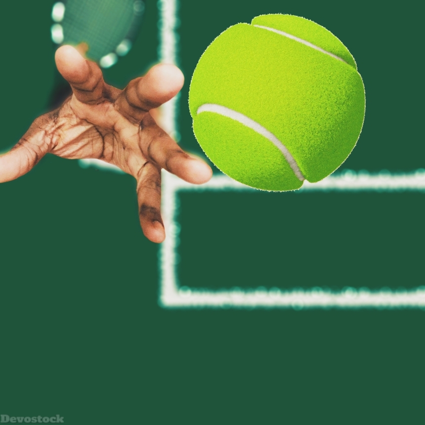 Devostock Sport Tennis Ball Thrown Match Hand 4k